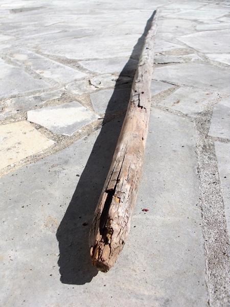 Foto Bohnenstange auf Boden liegend