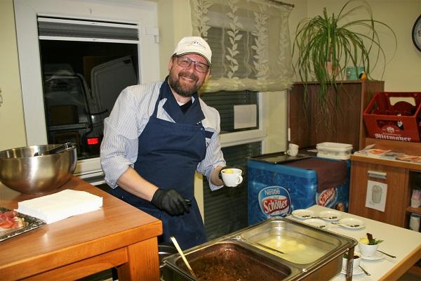 Bohnakern mit Klöß als fränkische Tapas am fränkischen Abend in Sankt Gereon