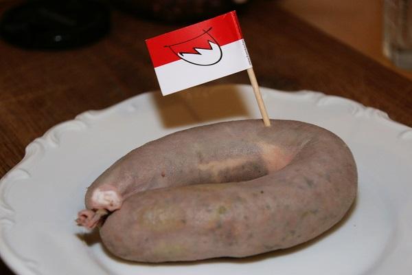 Ungeräucherte fränkische Krautwurst