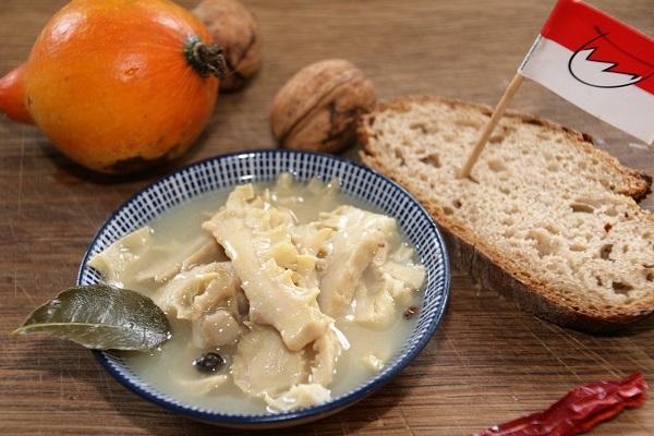 Suppe aus Rinderpansen