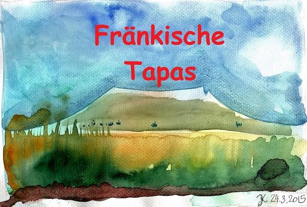Abbildung Aquarellbild vom Walberla Hausberg der Franken