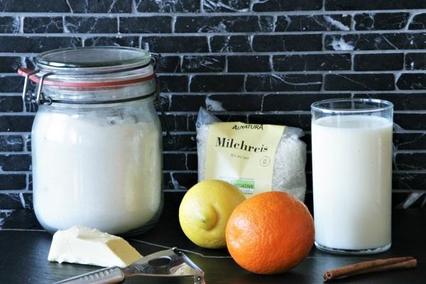 Foto Zutaten für spanischen Milchreis
