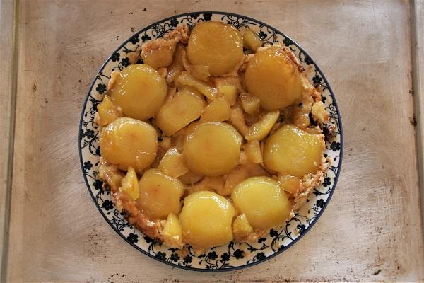 Foto Tarte Tatin französischer Apfelkuchen