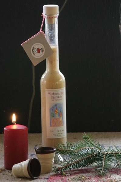 Weihnachtseierlikör mit Calvados