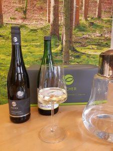 Fränkischer Weißwein zur fränkischen Forelle